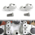 "20mm Pullback 7/8"" Handlebar Risers 23mm Raise For BMW F 750 GS 18-19 Silver"