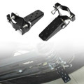 Passenger Foot Peg Rear Pedal Footrest 25-28mm For Universal Motorcycle Black