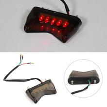 Brake Running Tail Light LED For Universal Motorcycle Bobber ATV Dirt Bike Smoke