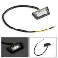 3 LED Rear Tail License Plate Brake Number Plate Light Mini Lamp Black