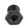 1/2-28 To 13/16-16 Oil Filter Threaded Adapter Stronger Than Aluminum Black