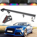 Universal Sedan Adjustable Aluminum Rear Trunk Wing Racing Spoiler With LED Black