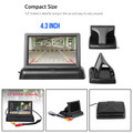 "4.3"" TFT LCD NTSC PAL Foldable 4.3inch Monitor Night Vision Parking Assist"
