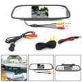 "8 LED Car Rear Camera + 4.3"" Mirror Monitor Kit Vehicle Security System"