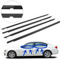Door Weatherstrip Belt Seal Window Moulding Trim Fits Toyota Corolla 09-12 Black