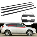 4PCS Door Auto Window Trim Moulding Belt Weatherstrip For Toyota RAV4 09-12 Black