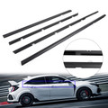 4pcs Car Weatherstrip Window Moulding Trim Seal Belt For Honda Civic 12-15 Black