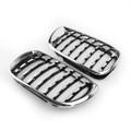 Pair Chrome Diamond Grille For BMW E46 Touring 4-Door BMW E46 Saloon 4-Door 02-05 Facelift Chrome