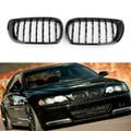 Kidney Grill For BMW E46 Touring 4-Door E46 Saloon 4-Door 02-05 Facelift Black