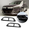 2pcs Steel Rear Cylinder Exhaust Pipe Cover Trim For Honda Accord 18-19 Black