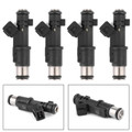 4Pcs Genuine Petrol Fuel Injector For Citroen C5 C4 C8 DISPATCH JUMPY SYNERGIE XSARA Black