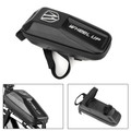 Waterproof EVA Bike Top Tube Bag Bicycle Cycling Front Frame Phone Holder Case Black
