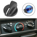 2PCS Heater A/C Blower Fan Speed Control Knob For Wrangler 99-06 Ram Van 1500 2500 3500 98-03 Black
