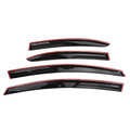 Window Sun Rain Guard Visors 4PCS For Honda Civic 4drs Sedan 06-11 Black