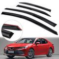 Window Sun Rain Guard Visors 4PCS For Toyota Camry 4drs Sedan 18-19 Black