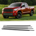 4PCS Window Moulding Weatherstrip Seal Belt For Toyota Tundra CrewMax 07-19 Black