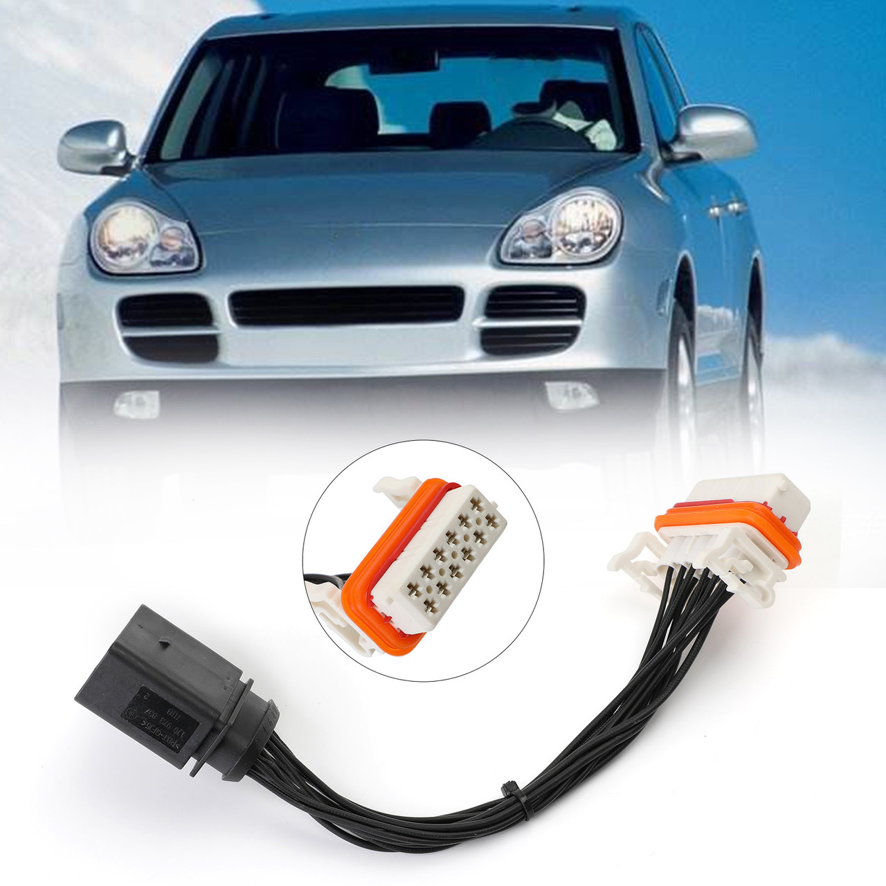Headlight Wiring Harness Lamp Xenon Front Connector For Porsche