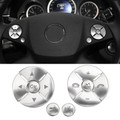 Steering Wheel Button Cover Trim 12pcs For Benz C Class W204 C180 C200 C260 C280 C300 08-10 E Class W212 10-13 S Class GLK X204 Class 08-12 Silver