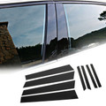 Pillar Posts 8pcs Set Cover Door Trim Window For Honda Civic 12-15 (4dr) Black