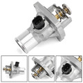 Thermostat & Coolant Assembly For Chevrolet Aveo 09-14 Cruze 11-15 Sonic 12-18 Trax 13-16 Silver