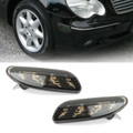Side Marker Light in Bumper Turn Signal Lamp For Mercedes Benz W203 C-Class 01-07 Smoke