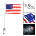 Luggage Rack Mount USA Flag Pole Fit For Harley Touring Electra Glide Chrome