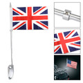 Luggage Rack Mount UK Flag Pole Fit For Harley Touring Electra Glide Chrome