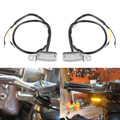 2x Universal LED Turn Signal Indicator Blinker Light Lamp Chrome