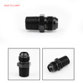 AN10 TO 1/2NPT ORB-8 Straight Fuel Oil Air Hose Fitting Male Adapter Black
