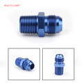 AN10 TO 1/2NPT ORB-8 Straight Fuel Oil Air Hose Fitting Male Adapter Blue