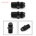 2X AN10 TO 1/2NPT ORB-8 Straight Fuel Oil Air Hose Fitting Male Adapter Black