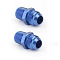2X AN10 TO 1/2NPT ORB-8 Straight Fuel Oil Air Hose Fitting Male Adapter Blue