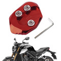 Kickstand Side Stand Extension Pad Plate For HONDA CB1000R 18-19 Red