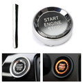 Engine Start Stop Switch Button Cover Crystal For BMW E Chassis E90 E92 E93 E64 E46 E60 Silver