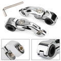 """Foot Peg Mount Clamps 1"""" 1-1/4"""" Highway Engine Crash Bar For XL 883 1200 Softail Chrome"""
