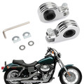 "Foot Peg Mount Clamps 1.25"" Highway Engine Crash Bar For Harley models with 21mm/24mm/32mm Engine guard or frame tube Chrome"