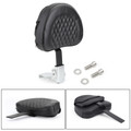 Driver Backrest For Harley 10-19 models such as Dyna Sportster Touring Softail Victory High Ball Victory Vision Tour 10-19 Black