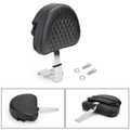 Driver Backrest For Harley 10-19 models such as Dyna Sportster Touring Softail Victory High Ball Victory Vision Tour 10-19 Chrome