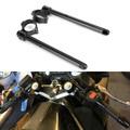 """7/8"""" Adjustable Racing Handle Bar 50mm Clip-on For Honda CBR600 F3 95-98 VTR1000F SUPER HAWK 98-05 VFR750F INTERCEPTOR 90-97 CBR600 F2 91-94 Black"""
