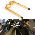 "7/8"" Adjustable Racing Handle Bar 50mm Clip-on For Honda CBR600 F3 95-98 VTR1000F SUPER HAWK 98-05 VFR750F INTERCEPTOR 90-97 CBR600 F2 91-94 Gold"