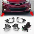 Front Bumper Fog Lights Lamps Harness Switch Kit For Toyota Yaris Hatchback 12-14 Black
