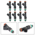 Set Of 8 Fuel Injectors For Chevrolet Avalanche 5.3L 6.0L 07-09 Express 1500 5.3L 08-09 4.3L 6.0L 5.3L Tahoe 07-09 Black