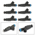 6Pcs 4-Hole Upgrade Fuel Injectors For Jeep Grand Cherokee Laredo Wrangler Rubicon Sport 2004 Black