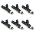6Pcs Fuel Injectors For Dakota 04-10 Durango 04-09 Nitro 07-11 Ram 1500 04-12 Black
