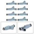 8PCS Fuel Injectors 0280155849 For Dodge Chrysler 4.7L V8 Upgrade 4 Nozzle Blue