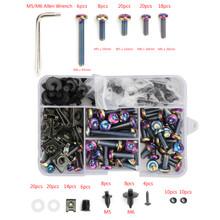 173pcs Burnt Titanium Fastener Clip Screw Kit Windscreen Fairing Bolt Universal