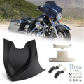 Front Chin Fairing Mudguard Spoiler For Touring Dyna Softail Road King 2004-2017 Mblack