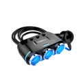 12/24V 3.1A Dual USB Car Fast Charger Adapter Cigarette Lighter Socket Splitter Black