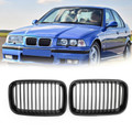 Glossy Black Kidney Sport Hood Grill Grille For BMW E36 318i 325i 1992-1996 Gblack
