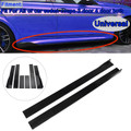 Pair of Side Skirts Extensions Splitters For VW Golf MK5 MK6 MK7 CC Ford Mustang Focus RS ST Glossy Black
